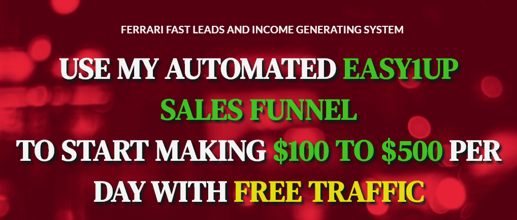 How to make money with easy1up sales funnel
