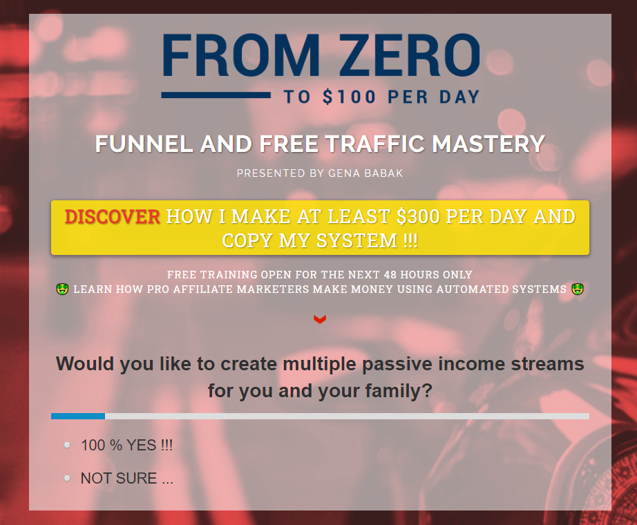 Easy1up Sales Funnel created by Gena Babak