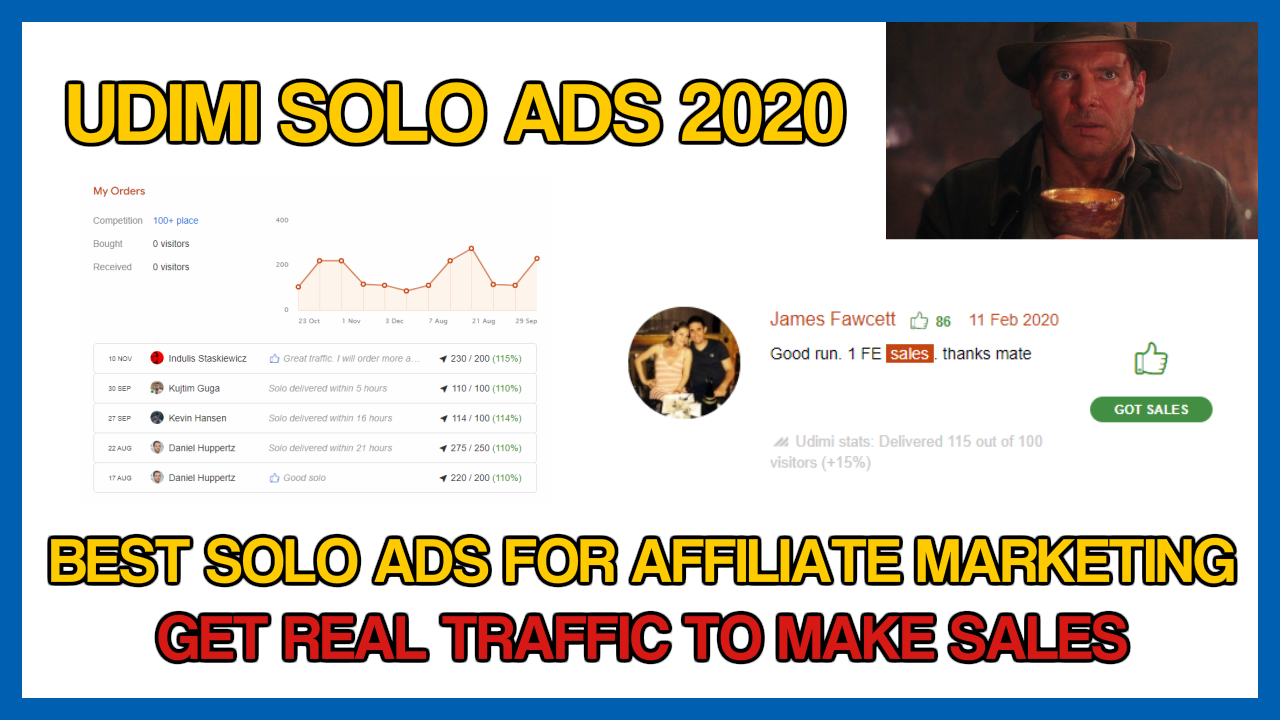 HOW TO USE UDIMI SOLO ADS FOR AFFILIATE MARKETING IN 2020