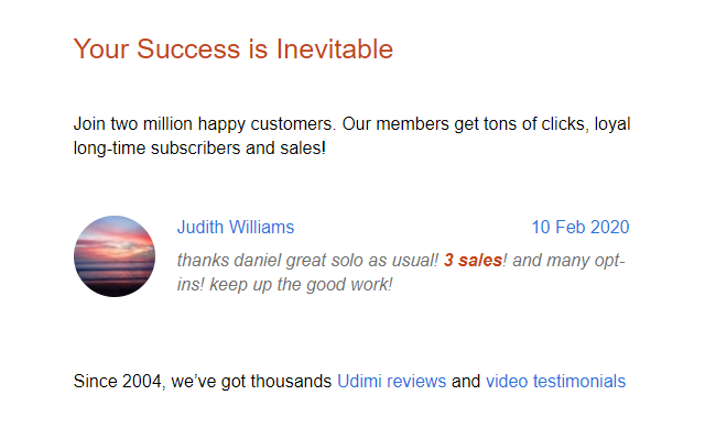 UDIMI SOLO ADS REVIEW 2020