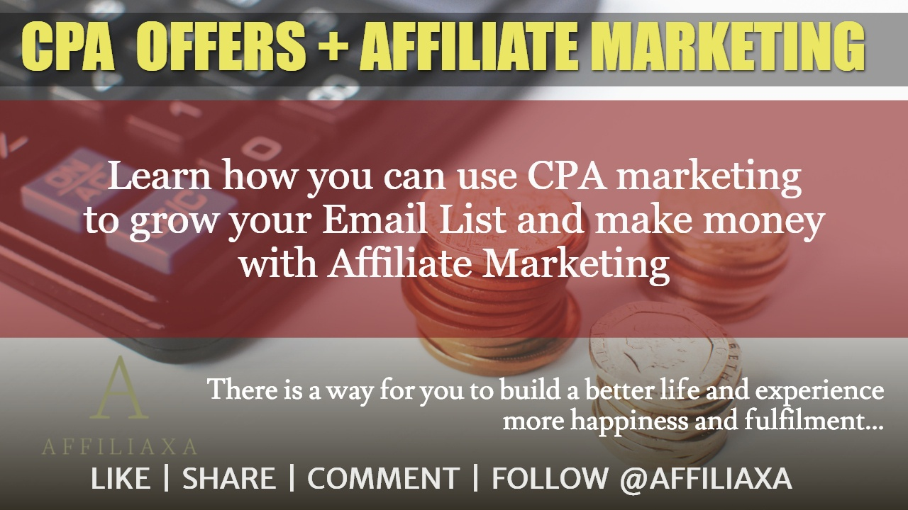 CPA OFFERS FOR AFFILIATE MARKETING