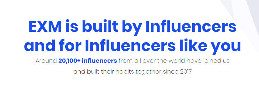 EXM (EXECUTIVE MAFIA) is built by Influencers and for Influencers like you