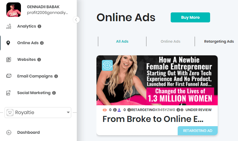 How to make money blogging in 2020 - use retargeting ads from ROYALTIE AI