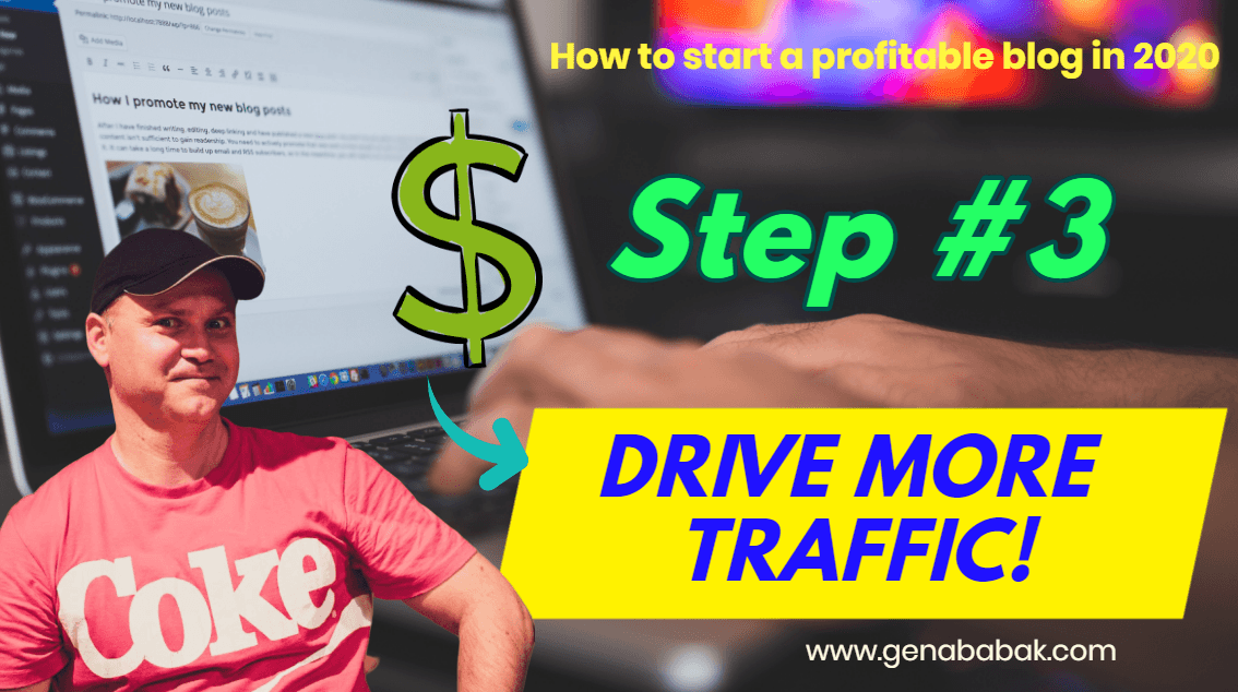 How to start a profitable blog in 2020 - step 3 - drive more traffic to your blog