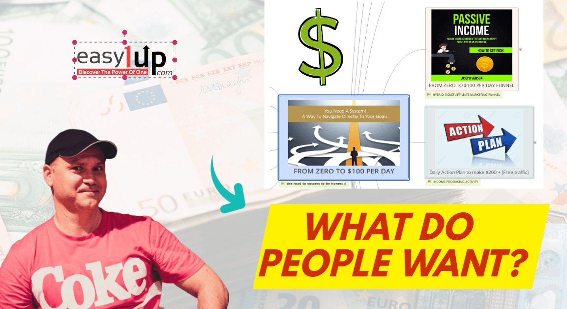 From zero to 100 bucks per day funnel for Easy1up