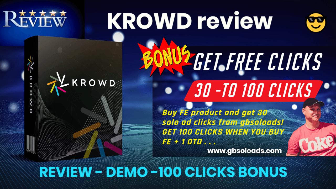 KROWD review and free traffic as a bonus
