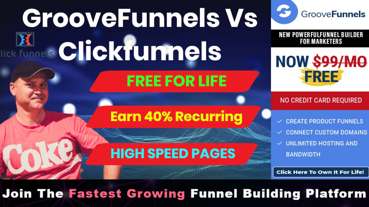 Groovefunnels vs clickfunnels review