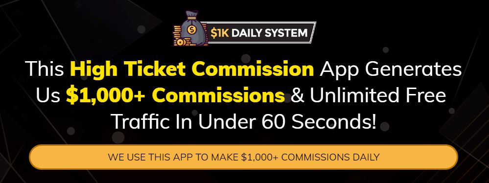 How to make $1k a day online with the High Ticket Commission app - 1K daily system review
