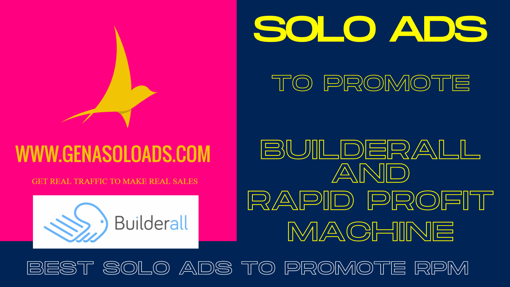 Best solo ads to promote rapid profit machine and Builderall