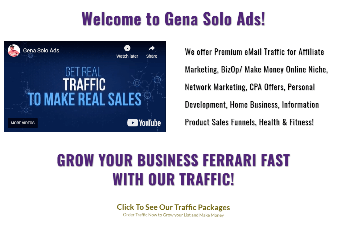 Genasoloads review - best solo ads to promote Rapid Profit Machine and Builderall